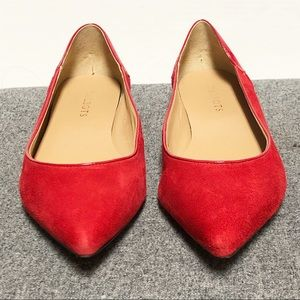 Talbots Ted Suede Patent Leather Pointed Flat 8.5